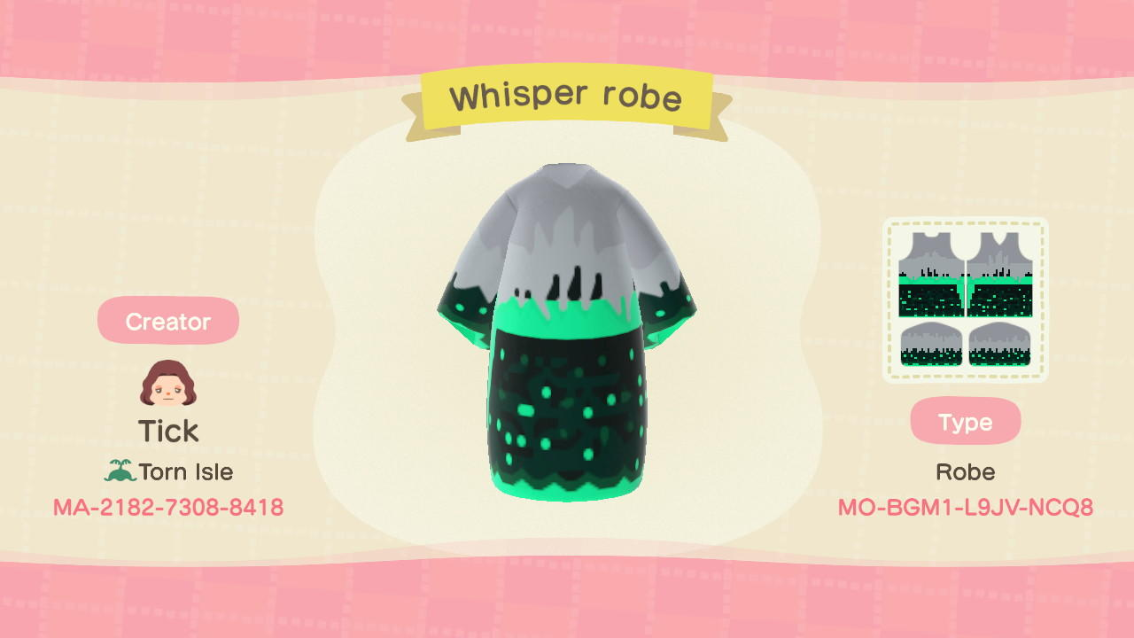 Whisper robe - Animal Crossing: New Horizons Custom Design