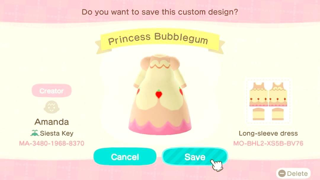 Princess Bubblegum  - Animal Crossing: New Horizons Custom Design