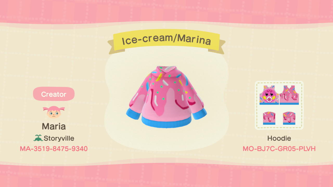 Ice-cream/Marina - Animal Crossing: New Horizons Custom Design