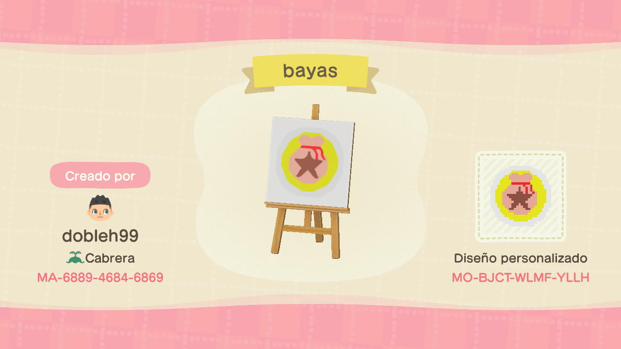 Bayas Berry Logo - Animal Crossing: New Horizons Custom Design
