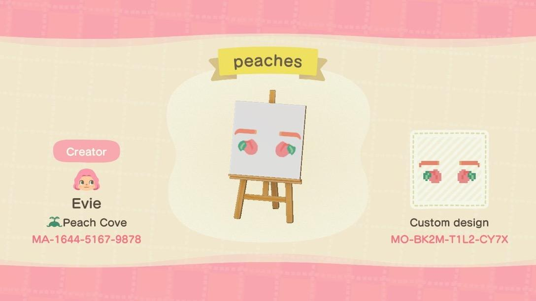 Just Peachy Face - Animal Crossing: New Horizons Custom Design