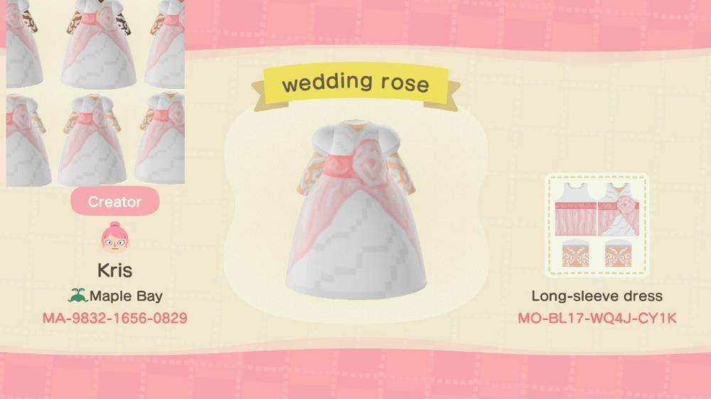 Pale Wedding Rose - Animal Crossing: New Horizons Custom Design