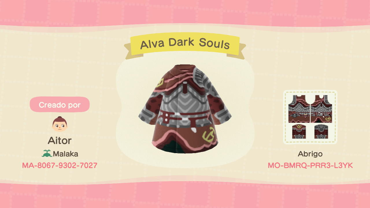 Alva Dark Souls - Animal Crossing: New Horizons Custom Design