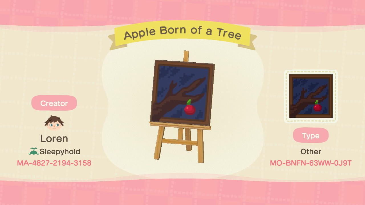 Apple Born of a Tree - Animal Crossing: New Horizons Custom Design