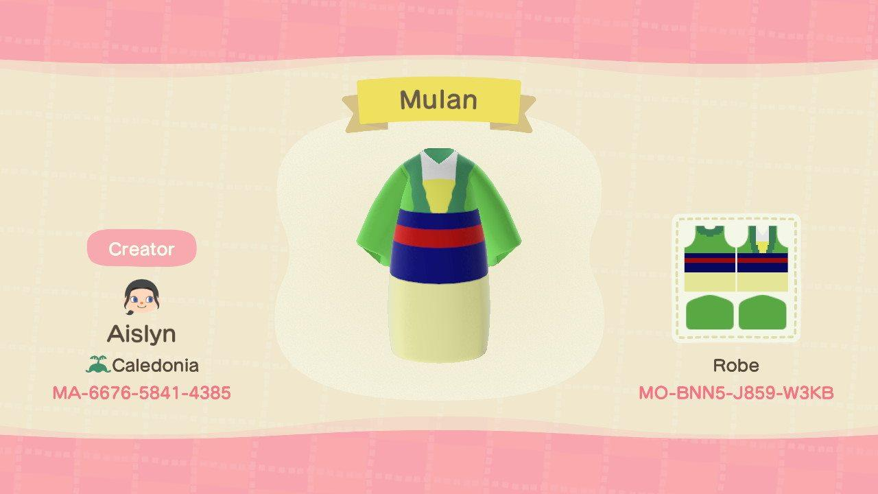 Mulan dress - Animal Crossing: New Horizons Custom Design