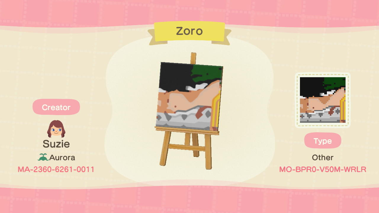 One Piece Zoro - Animal Crossing: New Horizons Custom Design