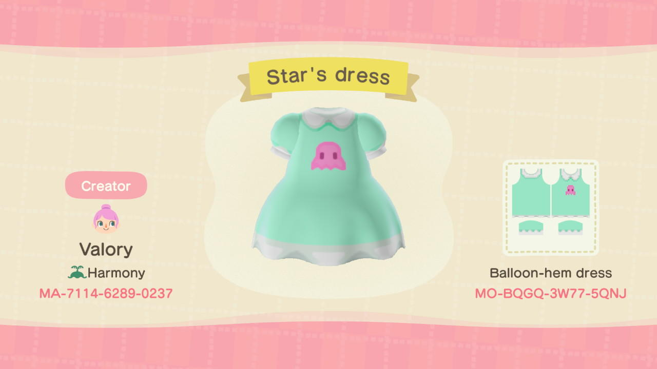 Star Butterfly dress - Animal Crossing: New Horizons Custom Design