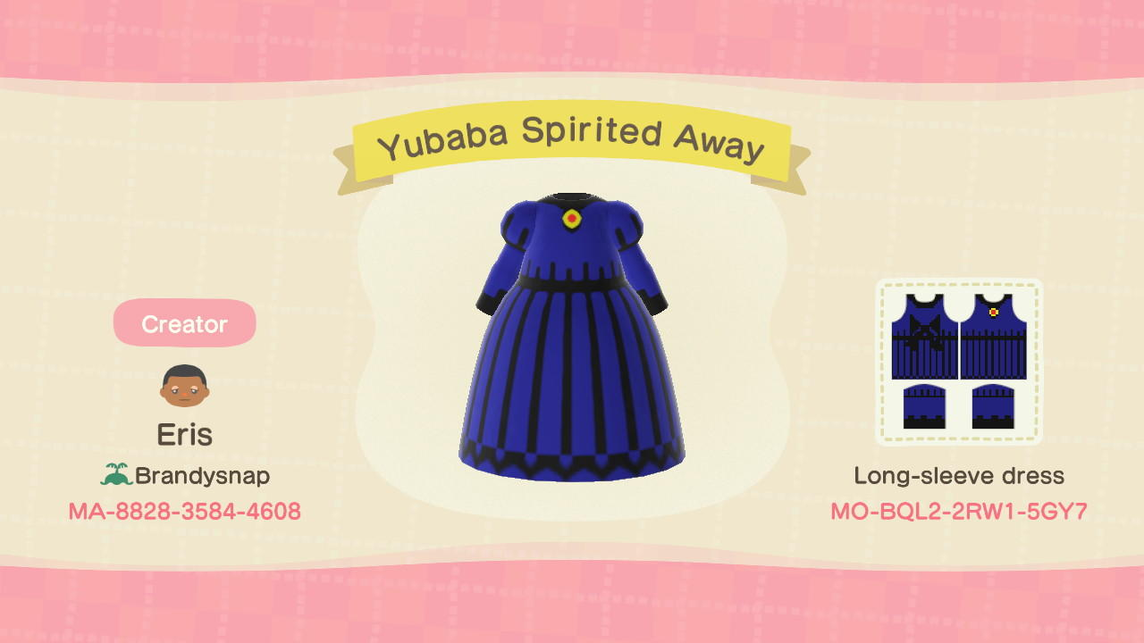 Yubaba Spirited Away Animal Crossing New Horizons Custom Design Nook S Island