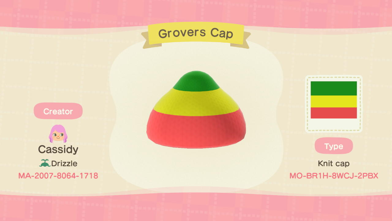 Grovers Cap  - Animal Crossing: New Horizons Custom Design