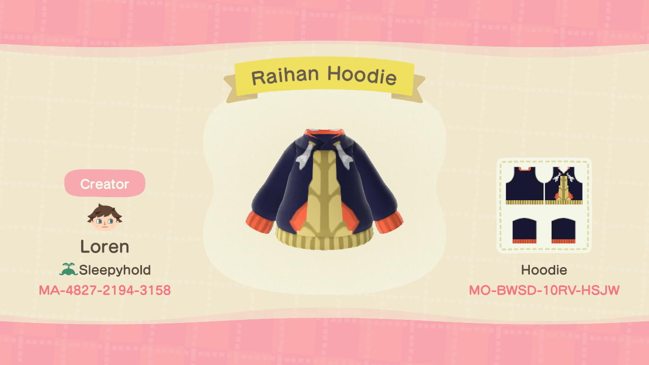 Raihan Hoodie - Animal Crossing: New Horizons Custom Design