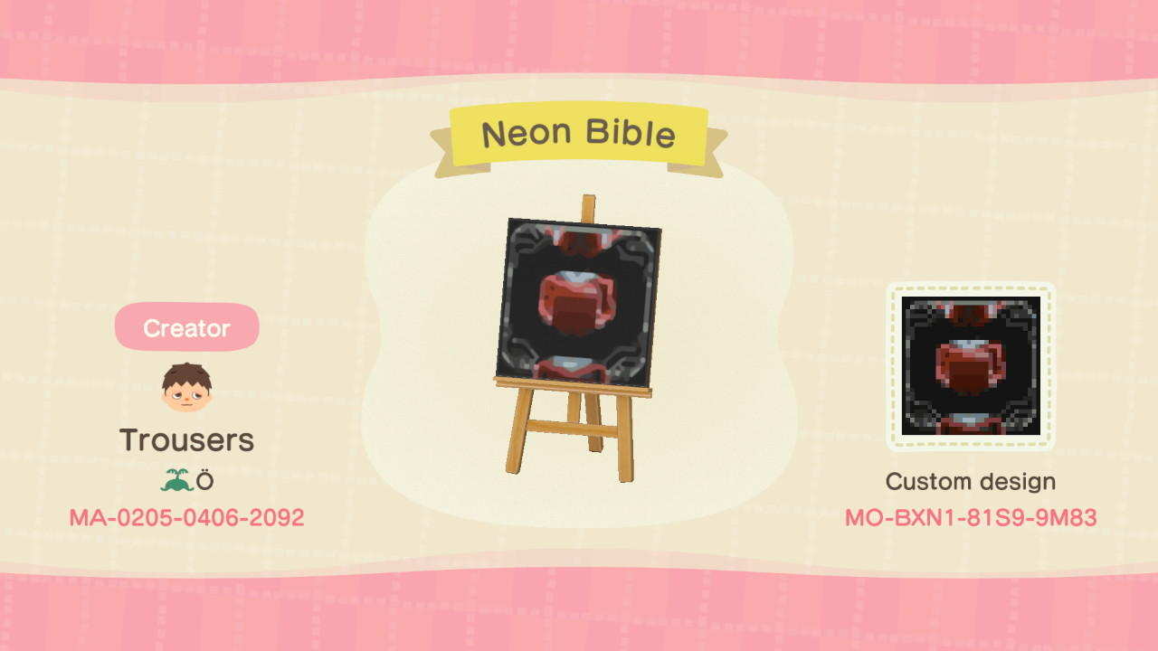 AF Neon Bible - Animal Crossing: New Horizons Custom Design