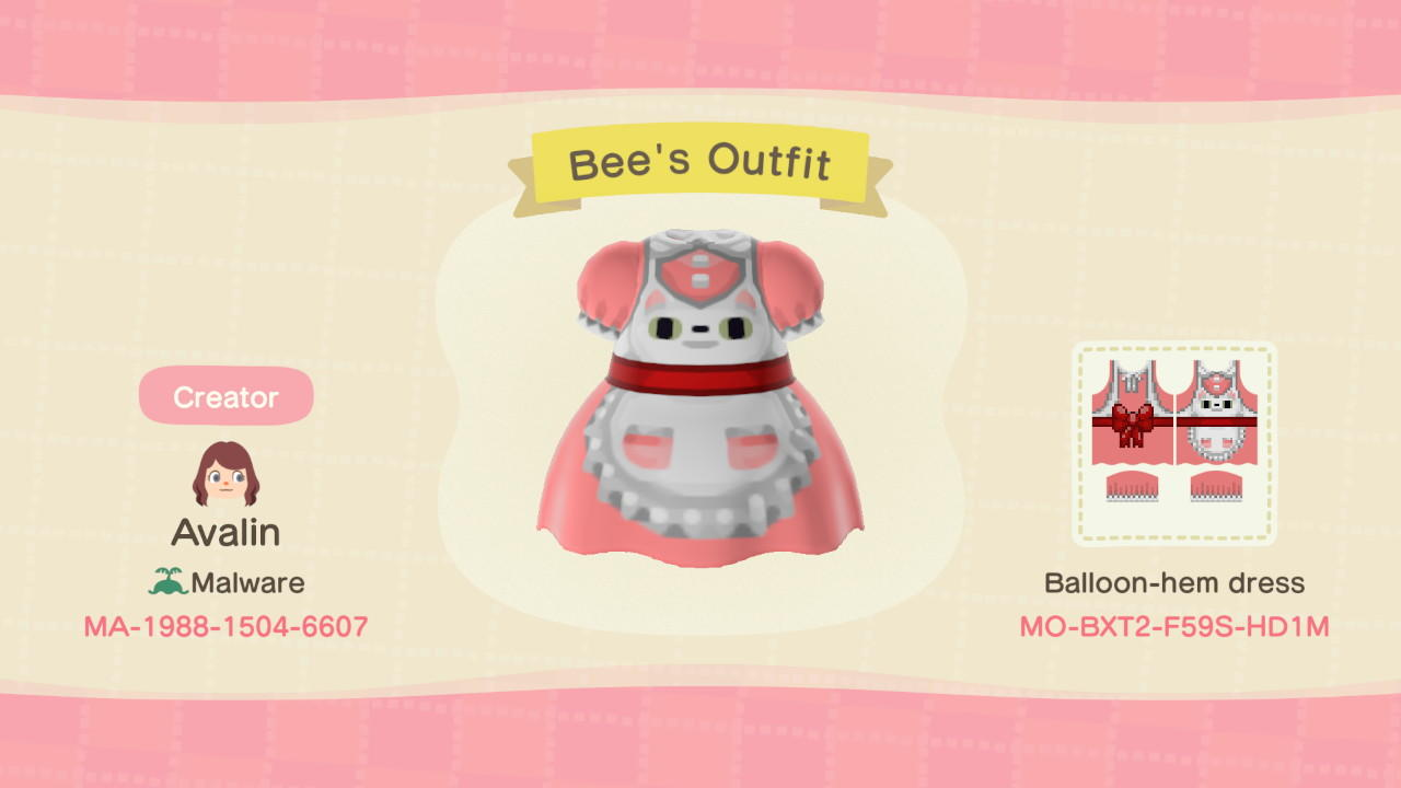 Bee's Outfit - Animal Crossing: New Horizons Custom Design