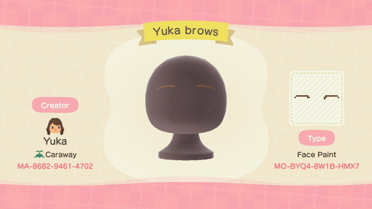 Yuka's Eyebrows - Animal Crossing: New Horizons Custom Design