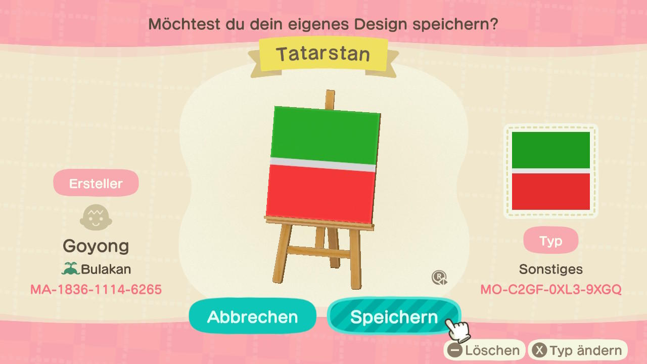 Tatarstan - Animal Crossing: New Horizons Custom Design