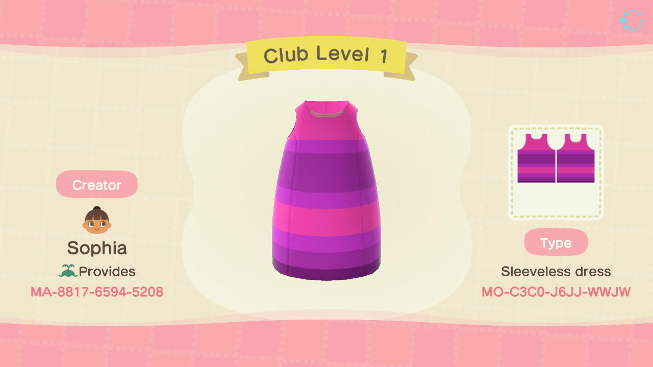 Club Level 1 - Animal Crossing: New Horizons Custom Design