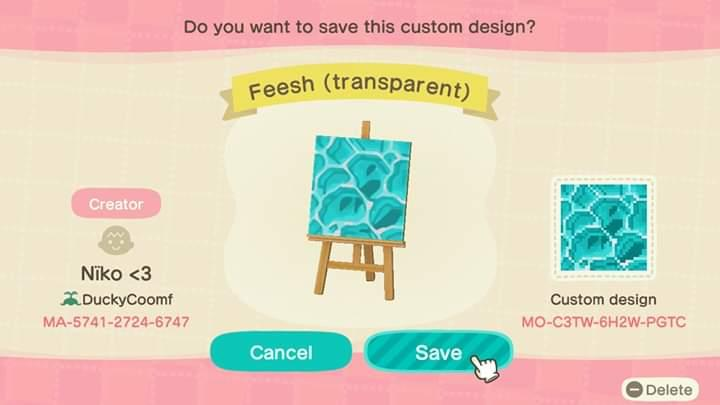 Feesh - Animal Crossing: New Horizons Custom Design