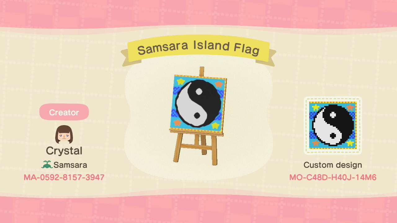 Samsara Island Flag - Animal Crossing: New Horizons Custom Design