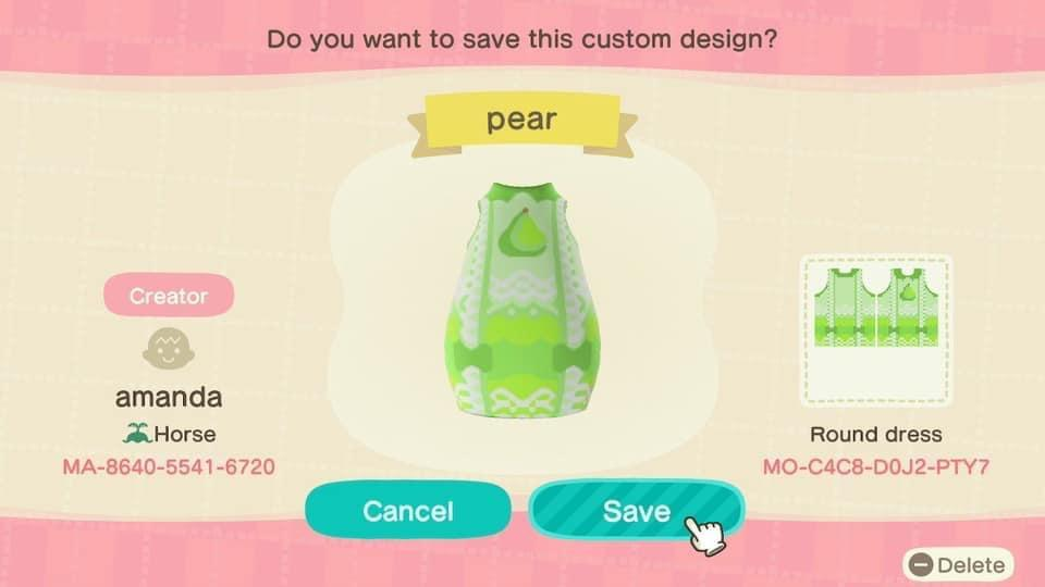 Pear - Animal Crossing: New Horizons Custom Design