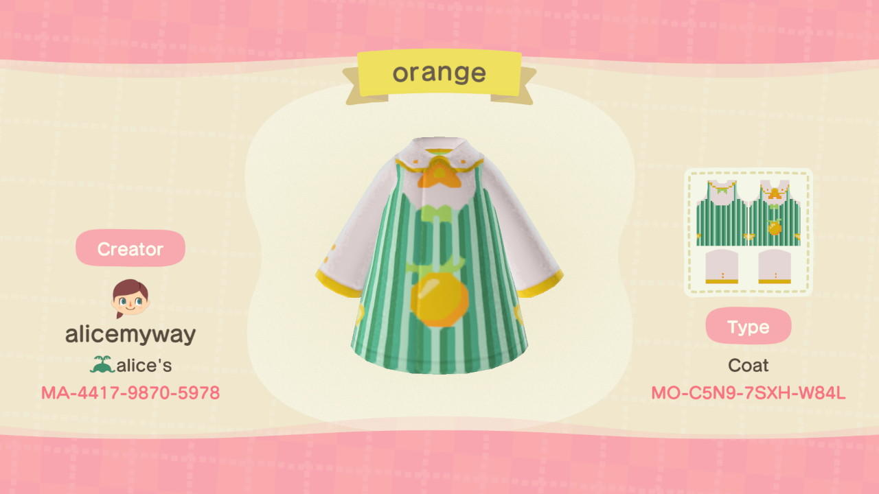 Orange cooking apron - Animal Crossing: New Horizons Custom Design