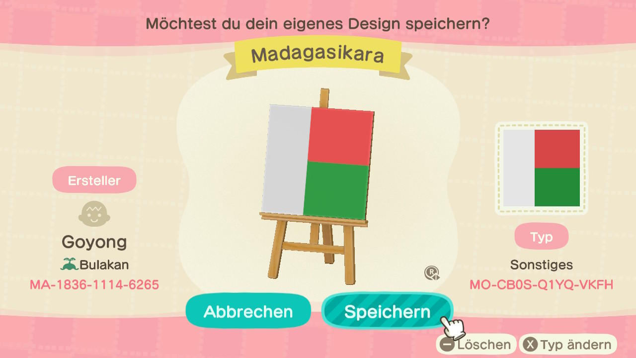 Madagascar - Animal Crossing: New Horizons Custom Design