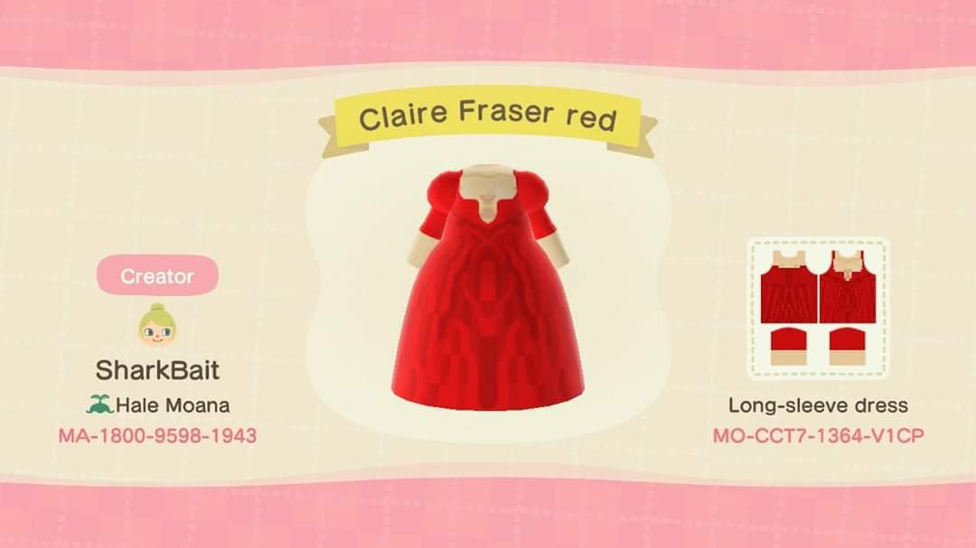 Claire Fraser Red - Animal Crossing: New Horizons Custom Design