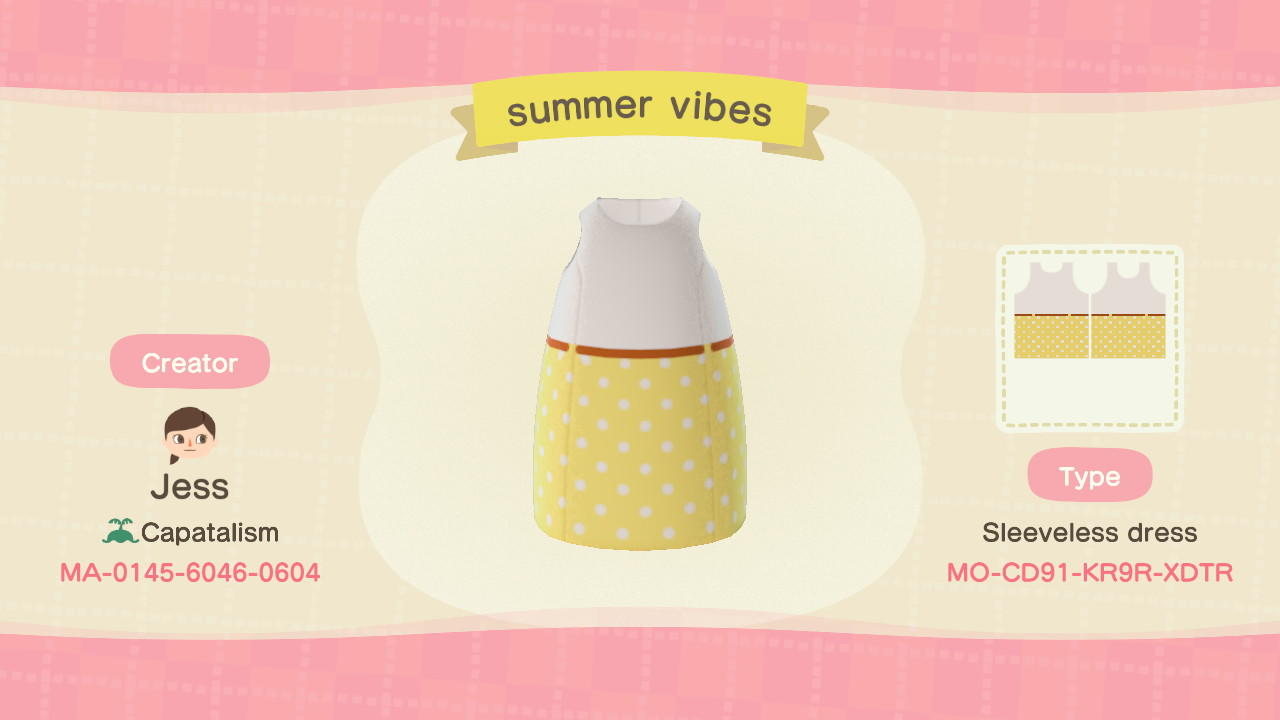summer vibes - Animal Crossing: New Horizons Custom Design