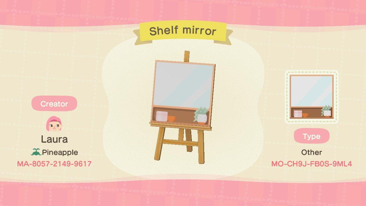 Mirror with shelf - Animal Crossing: New Horizons Custom Design