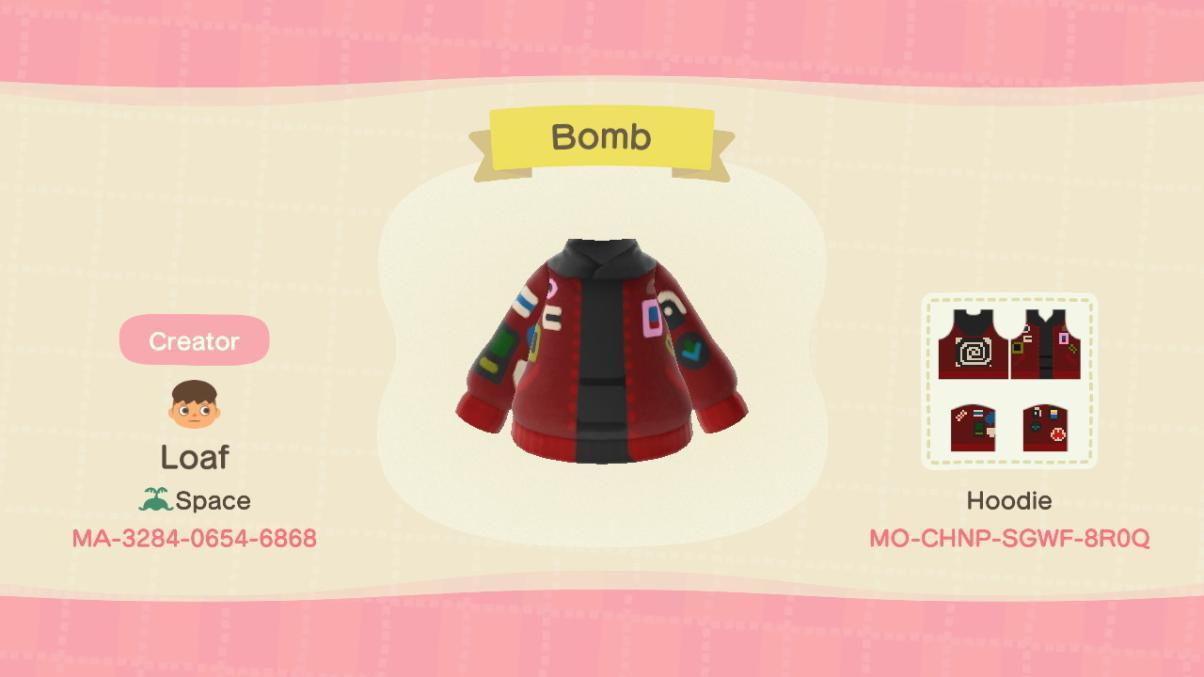 Bomber with patches - Animal Crossing: New Horizons Custom Design