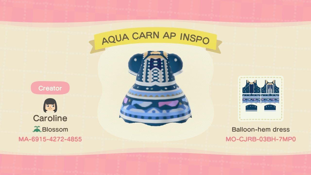AQUA CARN AP INSPO - Animal Crossing: New Horizons Custom Design