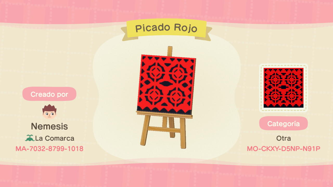 Picado Rojo - Animal Crossing: New Horizons Custom Design
