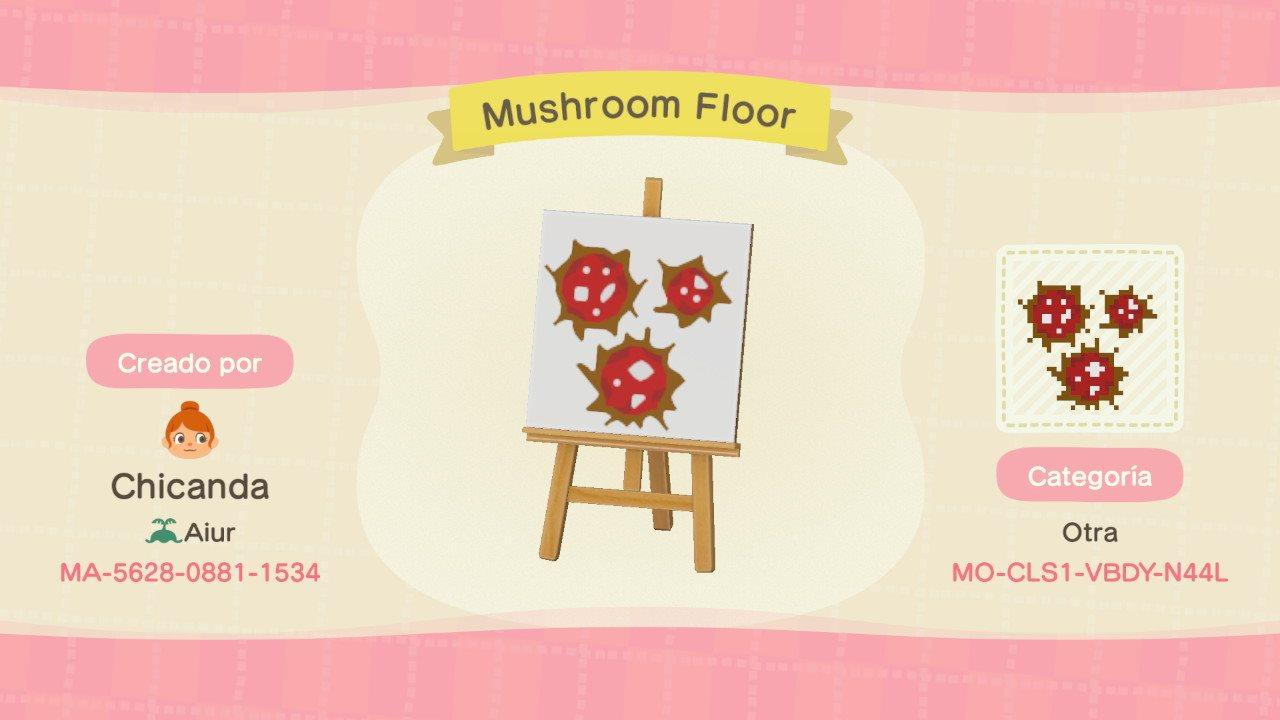 Mushroom Floor - Animal Crossing: New Horizons Custom Design
