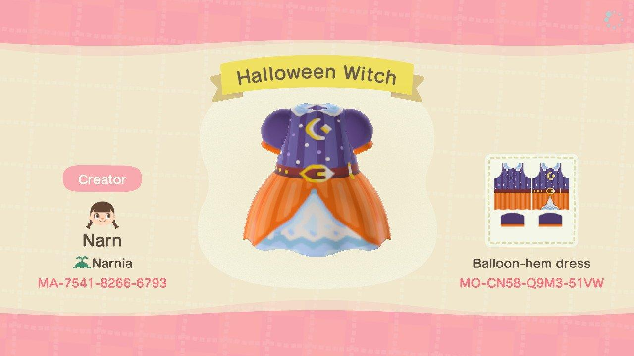 Halloween Witch - Animal Crossing: New Horizons Custom Design