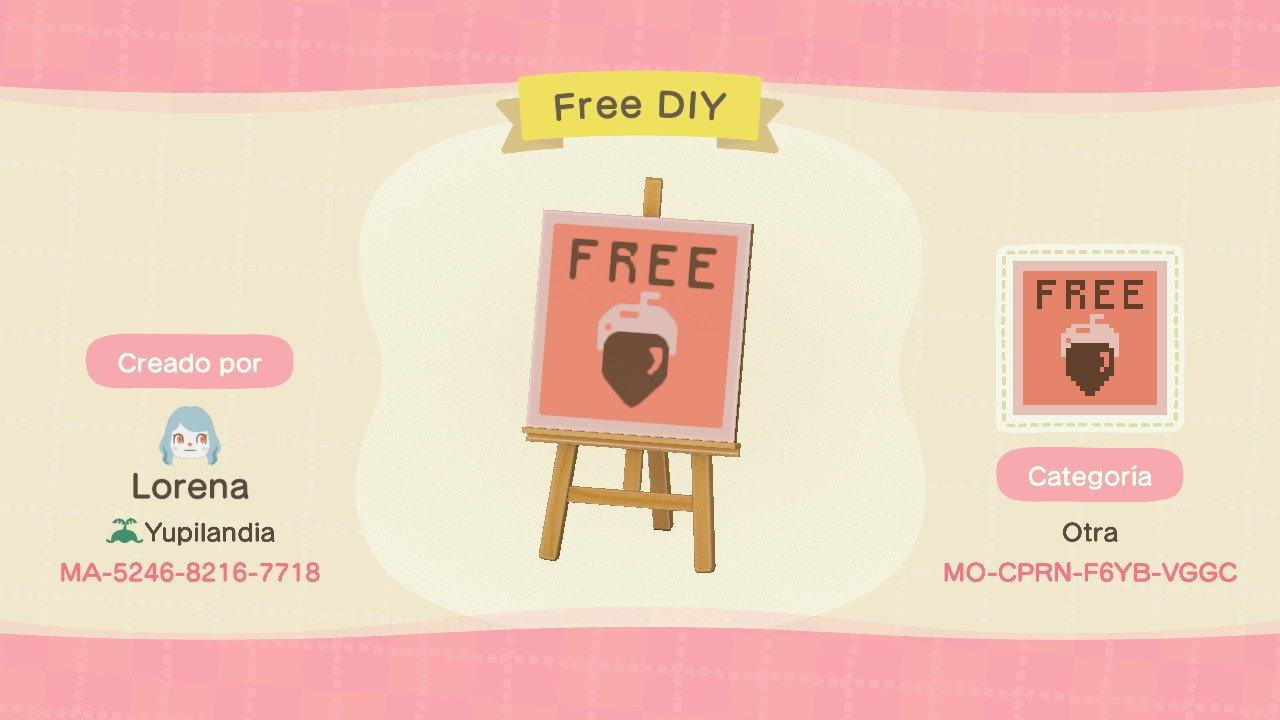 Free DIY Sign - Animal Crossing: New Horizons Custom Design