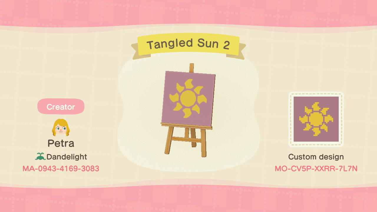 Tangled Sun 2 - Animal Crossing: New Horizons Custom Design
