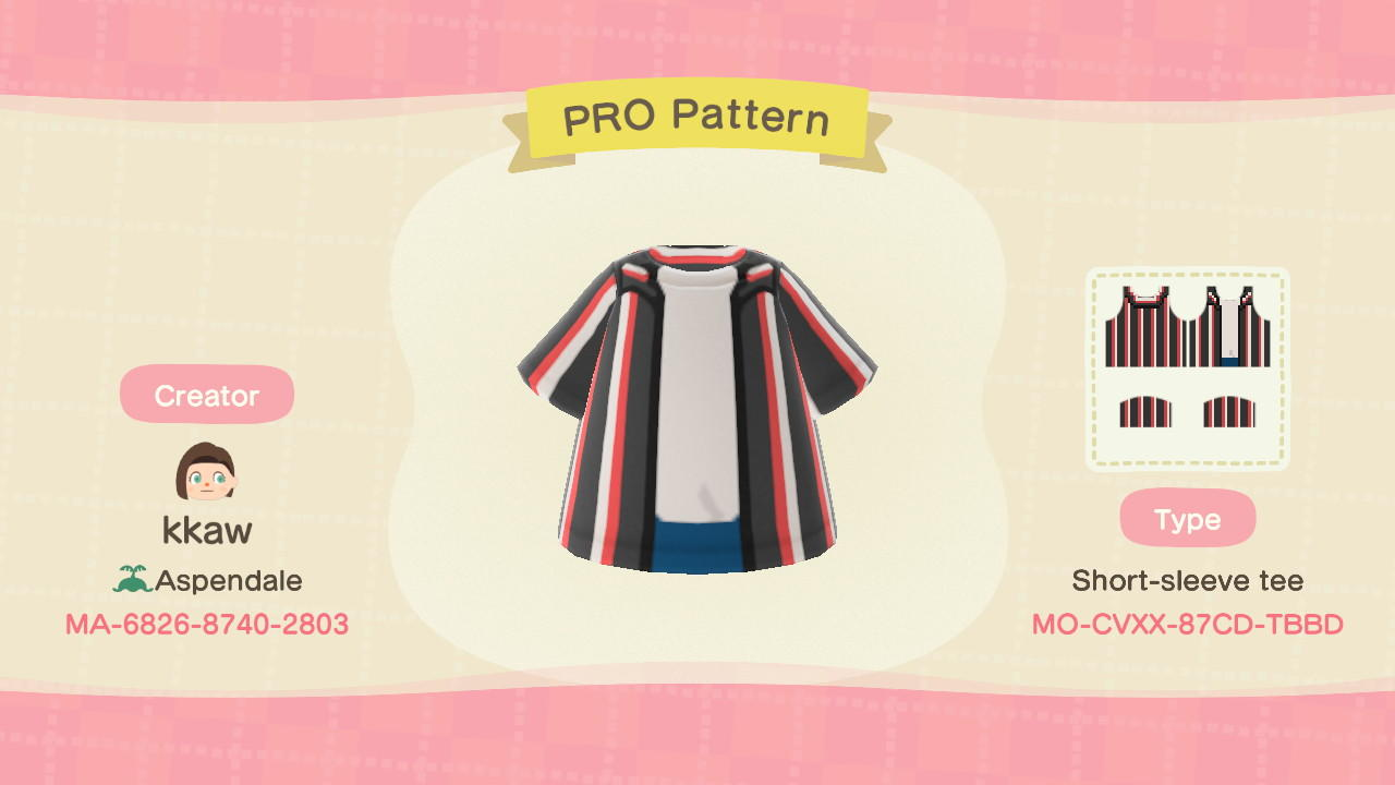 Undone Button-Up - Animal Crossing: New Horizons Custom Design