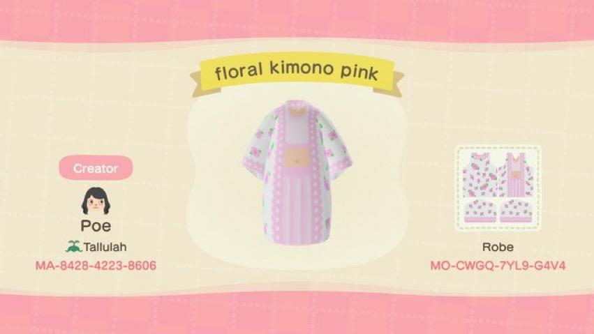 floral kimono pink - Animal Crossing: New Horizons Custom Design