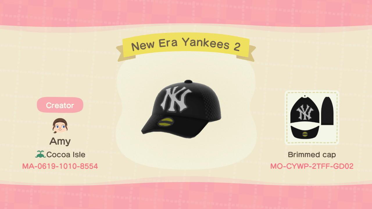 New Era Yankees 2 - Animal Crossing: New Horizons Custom Design