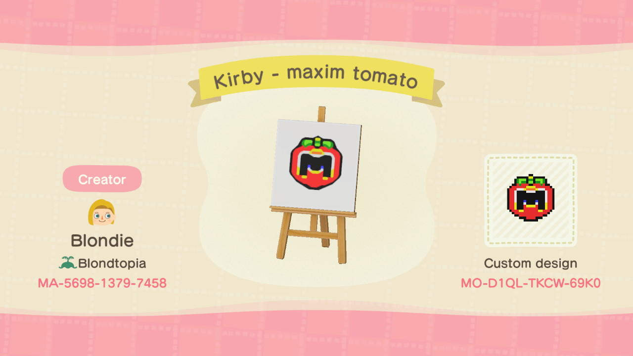 Kirby - maxim tomato - Animal Crossing: New Horizons Custom Design