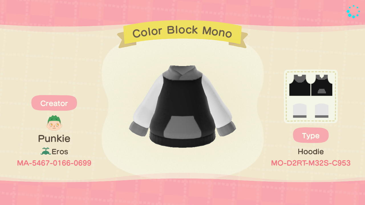 Color Block Mono - Animal Crossing: New Horizons Custom Design