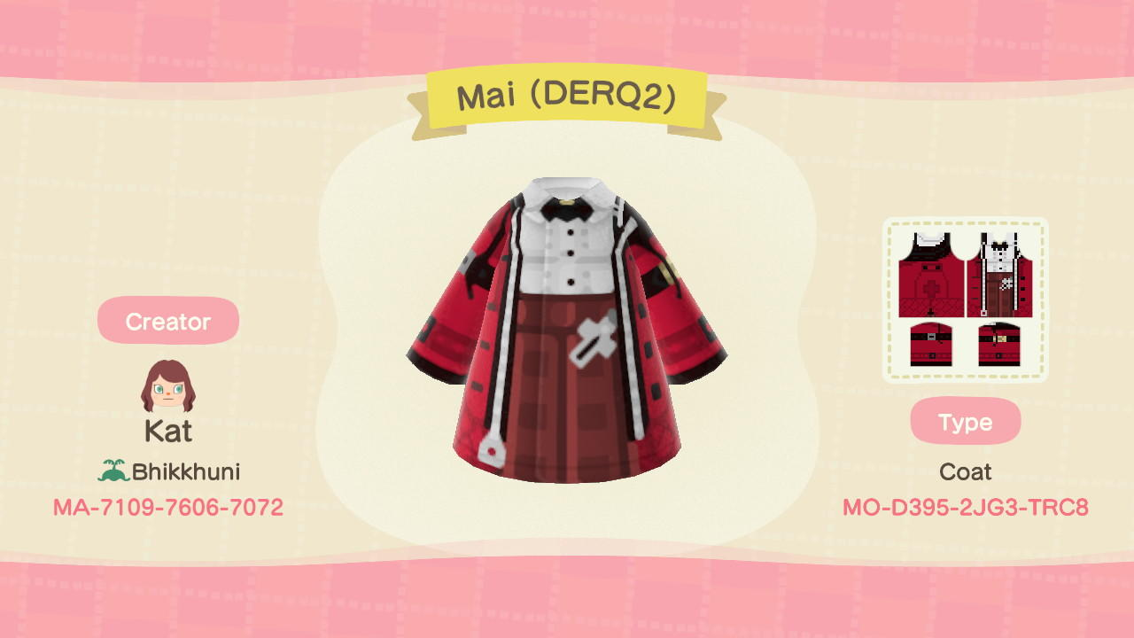 Mai Toyama - Animal Crossing: New Horizons Custom Design