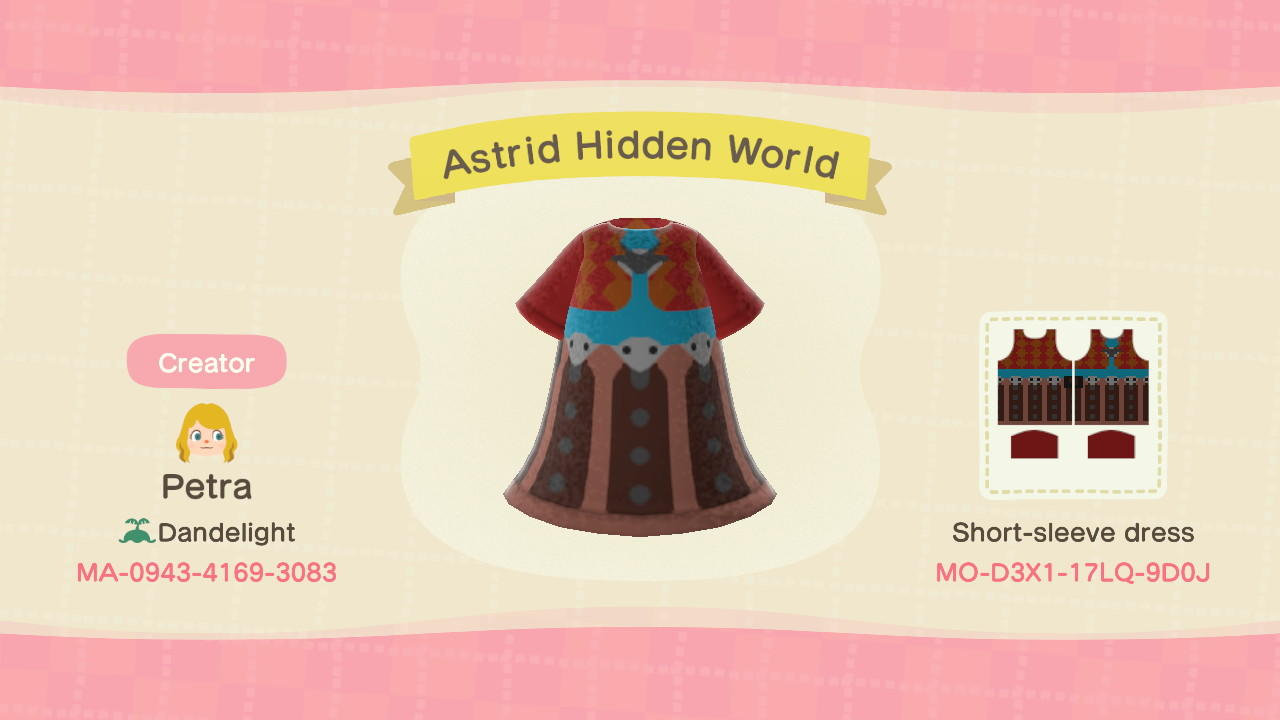 Astrid Hidden World - Animal Crossing: New Horizons Custom Design