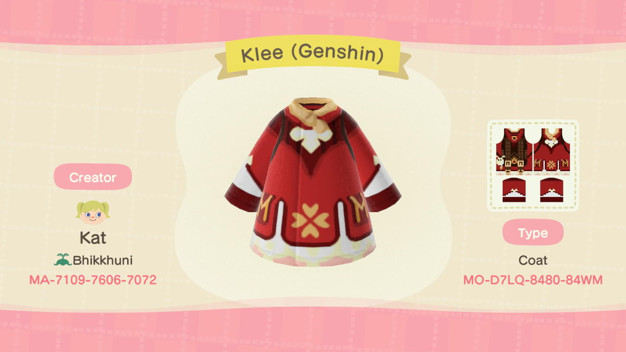 Klee (Genshin) - Animal Crossing: New Horizons Custom Design