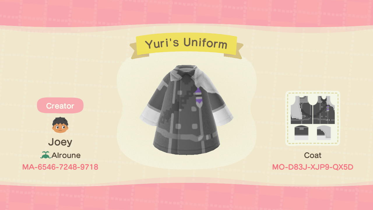 Yuri's Uniform - Animal Crossing: New Horizons Custom Design