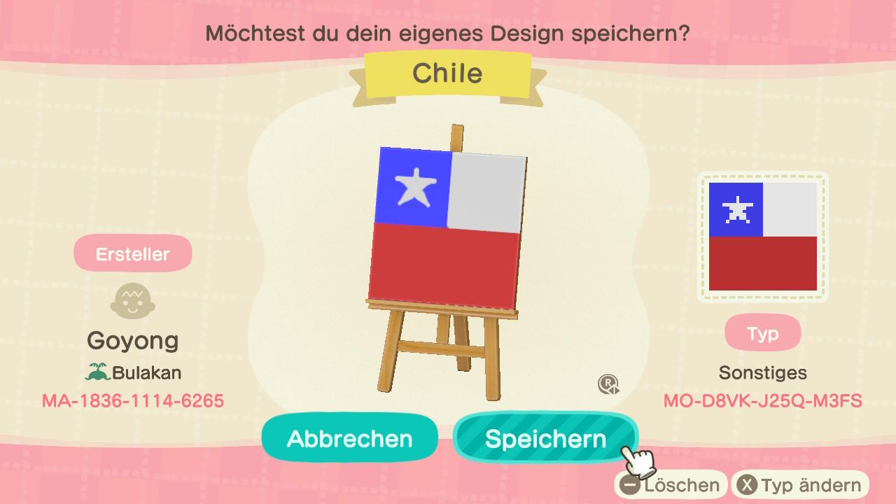 Chile - Animal Crossing: New Horizons Custom Design