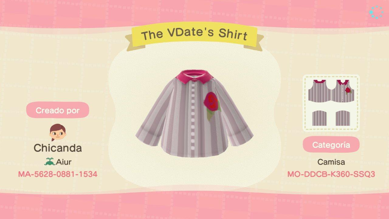 The VDate's Shirt - Animal Crossing: New Horizons Custom Design