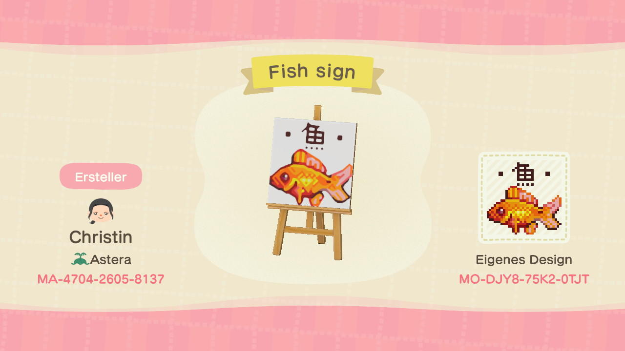 Fish Sign - Animal Crossing: New Horizons Custom Design