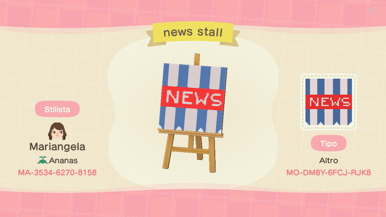 news stall  - Animal Crossing: New Horizons Custom Design