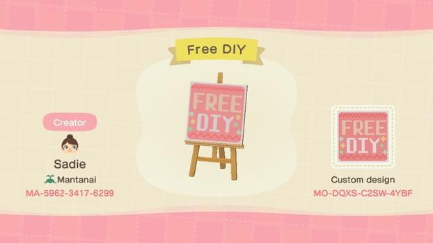 Free DIY - Animal Crossing: New Horizons Custom Design