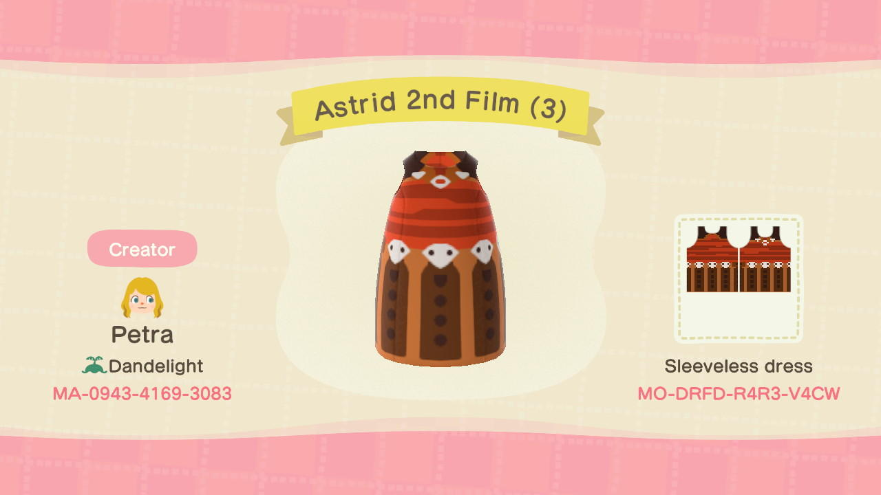 Astrid 2nd Film (3) - Animal Crossing: New Horizons Custom Design