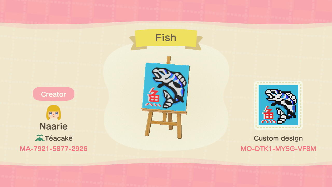 Japanese Fish Sign - Animal Crossing: New Horizons Custom Design